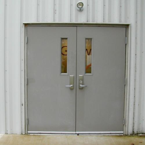 Interesting Commercial Exterior Double Doors Glass Door With